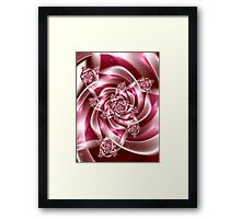Silk Ribbons for Breast Cancer Framed Print