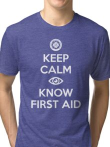 St John - Keep Calm Eye Know First Aid Tri-blend T-Shirt