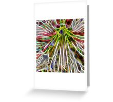 abstract amaryllis Greeting Card