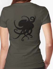 Octopus Silhouette Womens Fitted T-Shirt