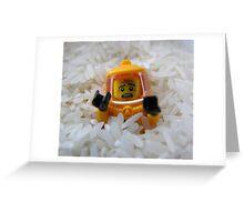 Lego Rice Greeting Card