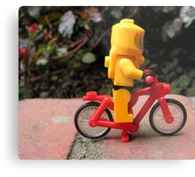 Lego bicycle Metal Print
