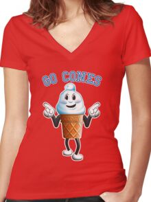 Coney - Wallace University mascot Women's Fitted V-Neck T-Shirt