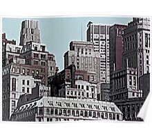 Skyline Past - New York City II Poster