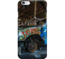 Abandoned car in an abandoned warehouse iPhone Case/Skin