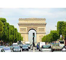 Arc de Triomphe Rushhour  Photographic Print