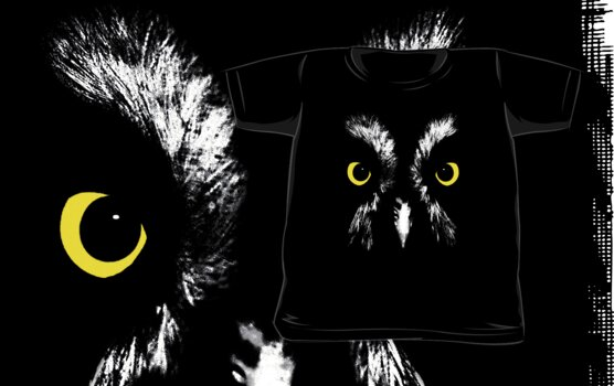 Owl portrait clothing by Steve Crompton