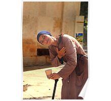 Begger Woman in Crete Poster