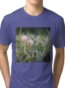 Delicate small fungus in grass  Tri-blend T-Shirt
