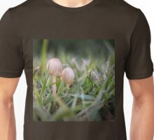 Delicate small fungus in grass  Unisex T-Shirt