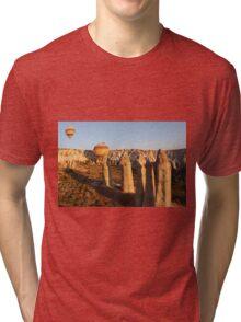 Sunshine Kisses The Balloons, Goreme, Turkey Tri-blend T-Shirt