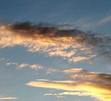 Sunrise lit clouds. by bobcomet