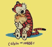 Calvin And Hobbes Hugging Baby Tee