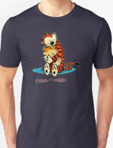 Calvin And Hobbes Hugging T-Shirt