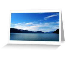 Blue day in the Fjords Greeting Card
