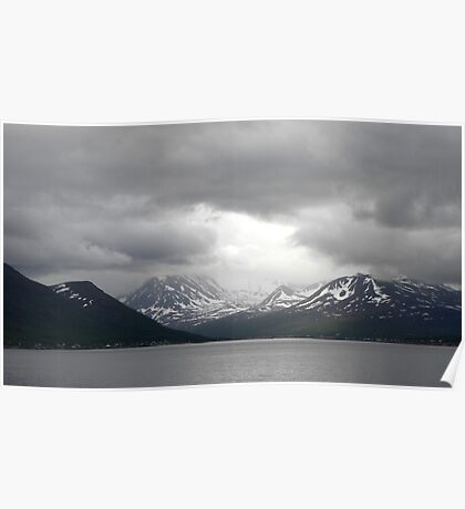 Gloom over the Norweigan Fjords Poster
