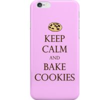 Keep Calm and Bake Cookies - Pink iPhone Case/Skin