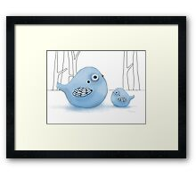 Blue Birds of Happiness Framed Print