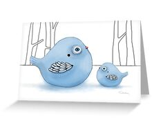 Blue Birds of Happiness Greeting Card
