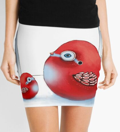 Little Red Robins Mini Skirt