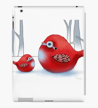 Little Red Robins iPad Case/Skin