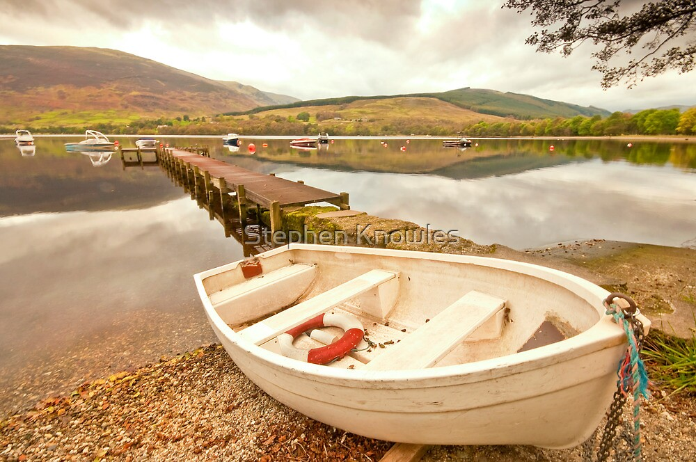 Boating on Loch Earn by Stephen Knowles