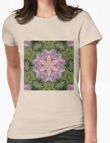 Kaleidoscope of a beautiful fungus Womens Fitted T-Shirt