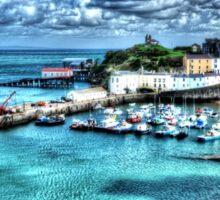 Tenby Harbour Painterly Sticker