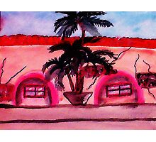 Old shopping center, watercolor Photographic Print