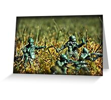 Toy Soldiers Attack! (Lomo image) Greeting Card
