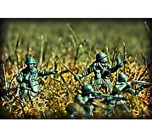 Toy Soldiers Attack! (Lomo image) Photographic Print