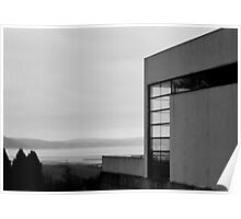Black and White Concrete Building Poster