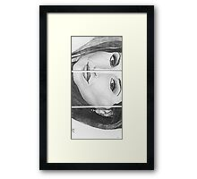Womans' face divided Framed Print