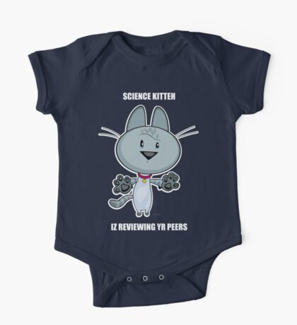 Science Kitteh is reviewing your peers One Piece - Short Sleeve