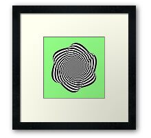 Spirally contrasty thingy thing Framed Print