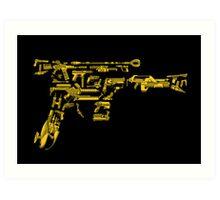 No Match for a Good Blaster - 26 Classic Sci-Fi Guns Art Print