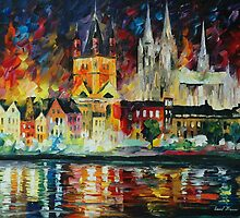 NIGHT AT COLOGNE - LEONID AFREMOV by Leonid  Afremov
