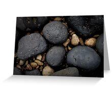 Basalt Boulders at Don Headlands Greeting Card