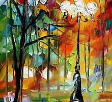THE SOUL OF THE PARK - LEONID AFREMOV by Leonid  Afremov