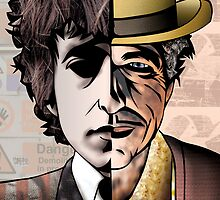 "Bob Dylan ""Man v. Myth"" by Sam Kirk"