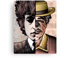 "Bob Dylan ""Man v. Myth"" Canvas Print"
