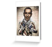 "Barack Obama, ""Stimulate This!"" Greeting Card"