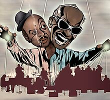 "Ray Charles & Count Basie, ""Reanimated Swagger"" by Sam Kirk"