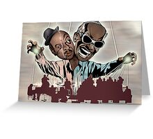 "Ray Charles & Count Basie, ""Reanimated Swagger"" Greeting Card"