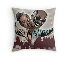 "Ray Charles & Count Basie, ""Reanimated Swagger"" Throw Pillow"