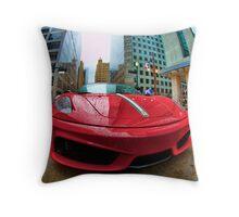 Ferrari Rain Drops Throw Pillow