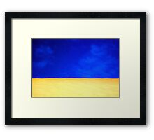 Abstract in Blue and Yellow Framed Print