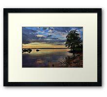 High Water Sunset Framed Print