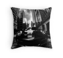 Dark Porsche Throw Pillow