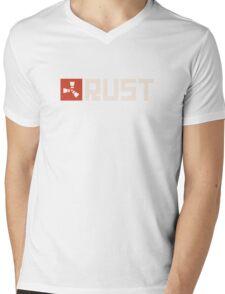 Rust Logo Shirt Mens V-Neck T-Shirt